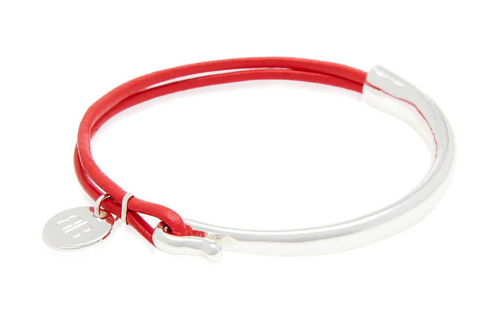 Sauer Pink Leather Bangle