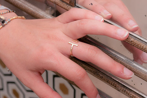 Delevingne Gold Adjustable Ring