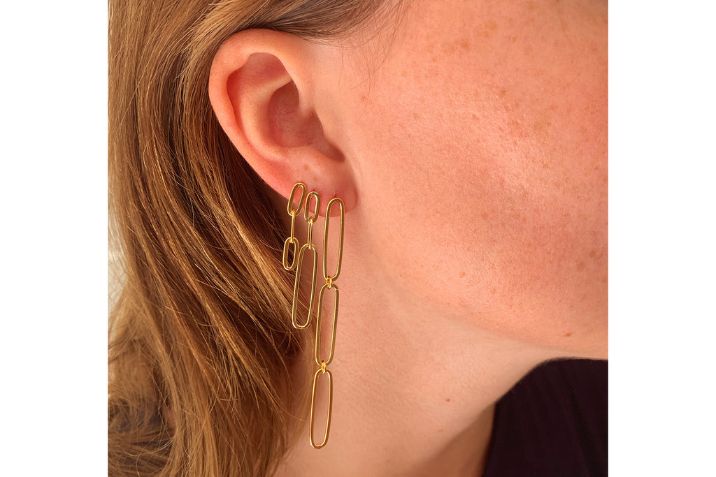 Boe Gold Chain Drop Earrings