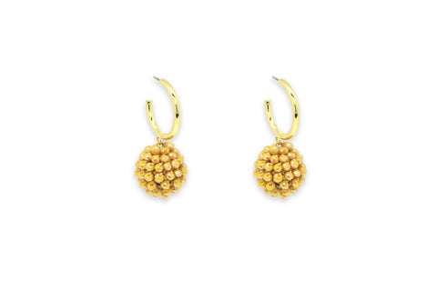 Chillador Gold Crystal Ball Earrings