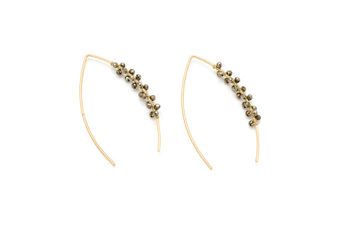Cymbal Gold Pull Through Earrings