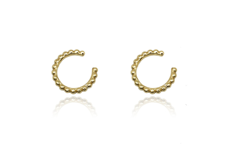 Halle Gold Cuff Earrings - Boho Betty