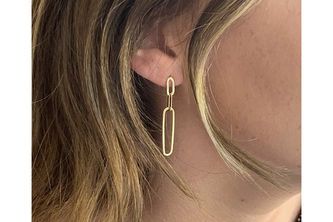 Alto Gold Chain Drop Earrings