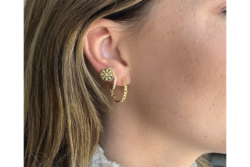 Mathis Gold Hoop Earrings
