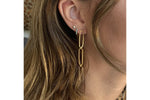 Cruz Gold Triple Link Drop Earrings - Boho Betty