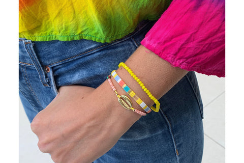 Pelion Multicolour 3 Layer Bracelet Stack