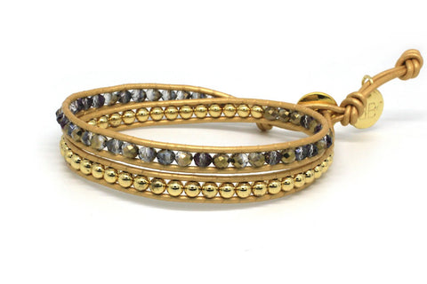 Formation 2 Wrap Gold Bracelet