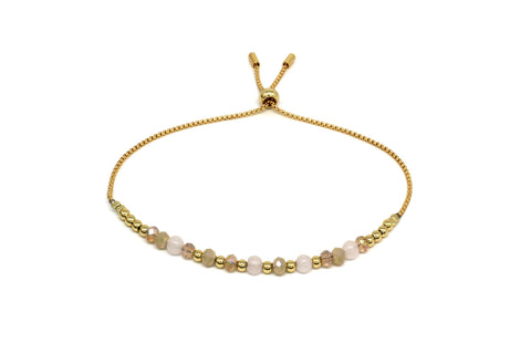 Foxtrot Gold Crystal Friendship Bracelet