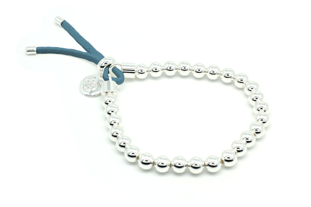 Freevo Blue & Silver Stretch Bracelet
