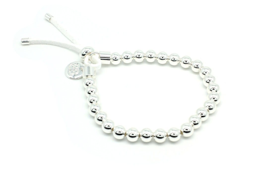 Freevo White & Silver Stretch Bracelet