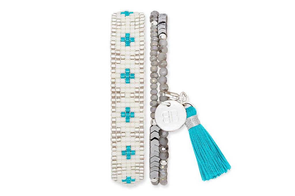 Jagdish Temple 2 Layered Friendship Bracelet Stack