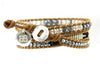 Adele Leather 3 Wrap Bracelet