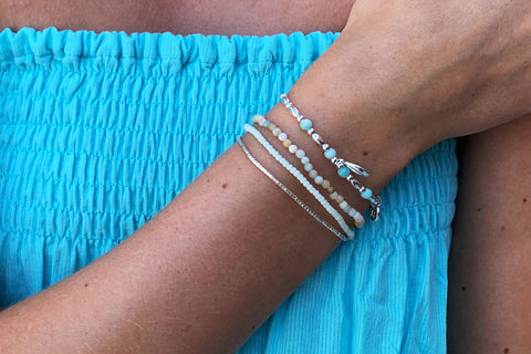 Tahan Mint 2 Layer Bracelet Stack