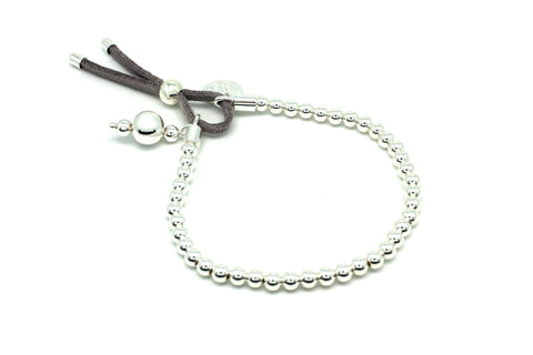 Lambada Grey & Silver Stretch Bracelet