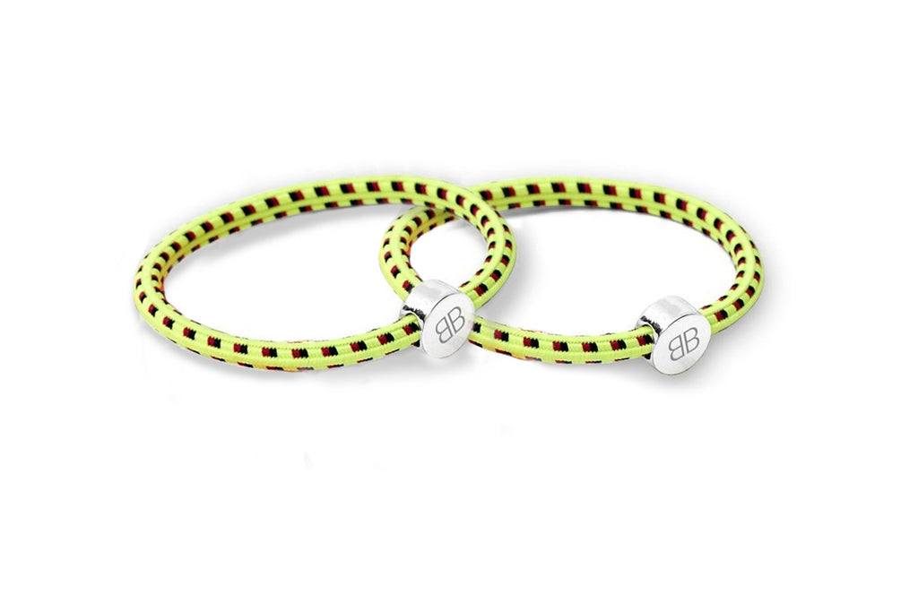 Yellow Multi coloured Hair Tie