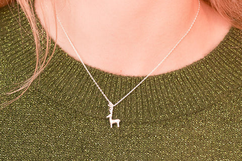 Meritage Sterling Silver Reindeer Necklace