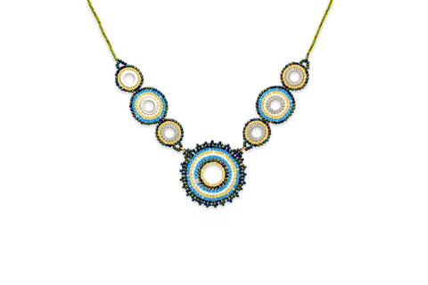 Demeter Teal Seed Bead Necklace