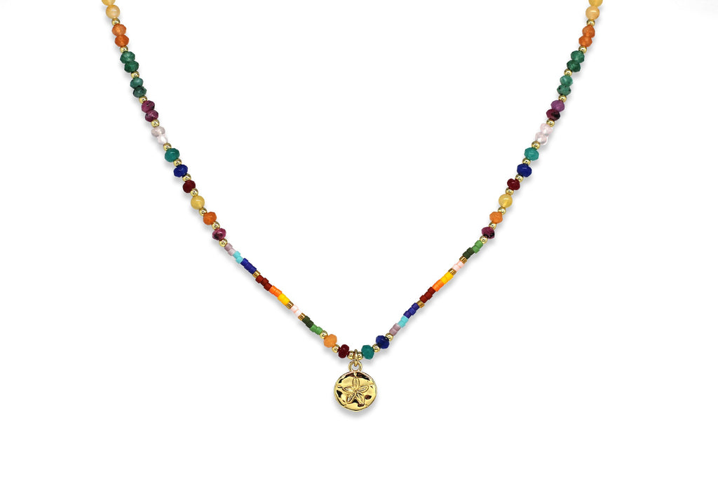 Electra Multi-colour Bead Necklace - Boho Betty