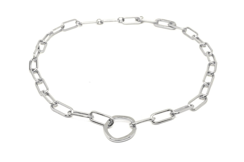 Eternity Silver Chunky Chain Necklace - Boho Betty