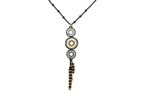 Hecate Seed Bead Black Necklace
