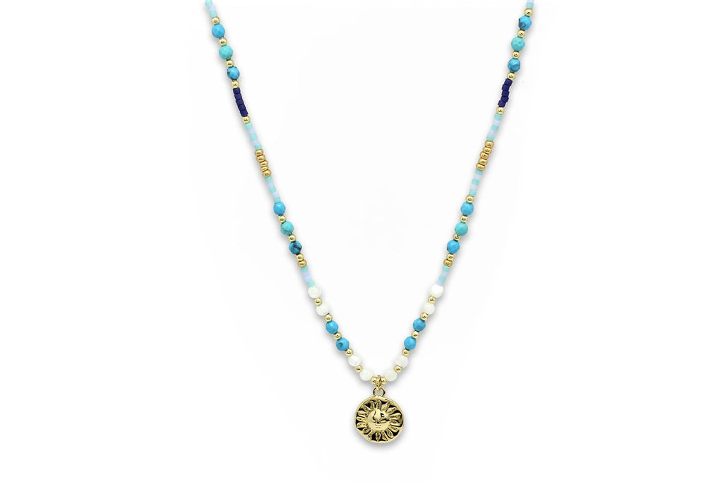 Thetis Beaded Necklace - Boho Betty
