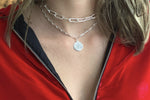 Beira Silver 2 Chunky Chain Layering Necklace Set - Boho Betty