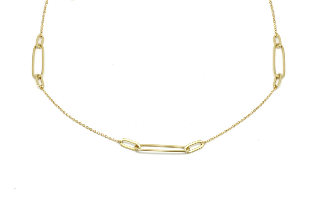 Ariana Gold Paperclip Link Necklace - Boho Betty