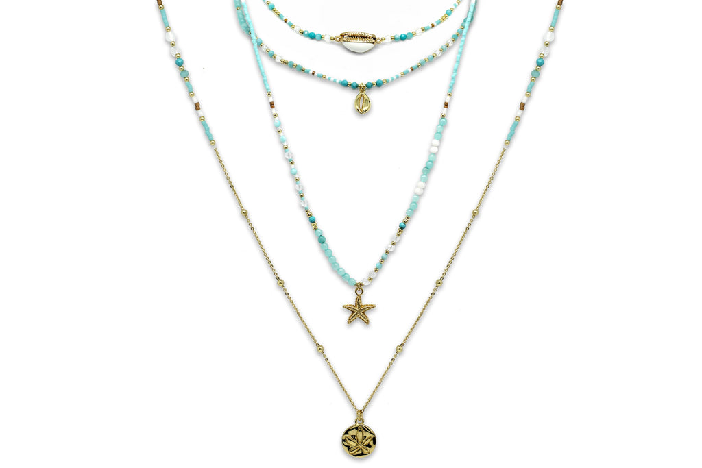 Lissa Beaded Necklace Quad Set - Boho Betty