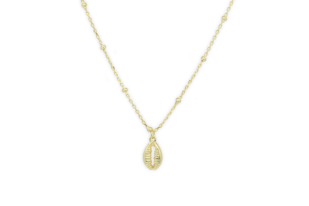 Bellini Sterling Silver Gold Shell Necklace