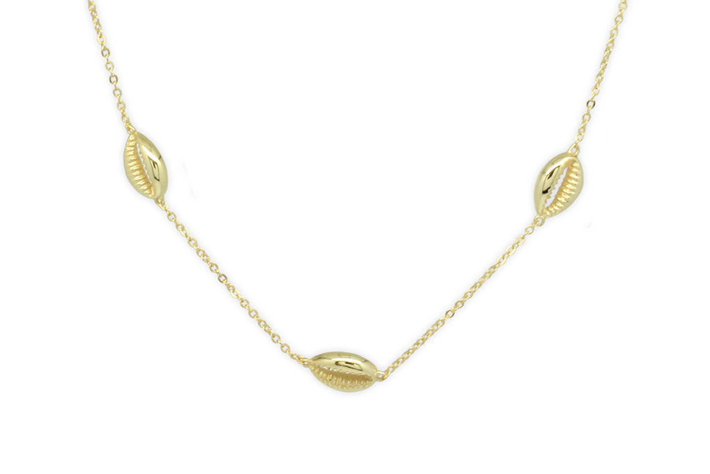Paloma Gold Triple Shell Choker
