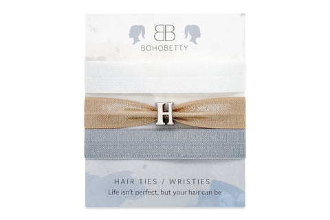 Neutral Letter Hair Tie Set