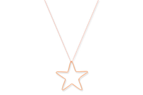 Oloroso Rose Gold Star Necklace