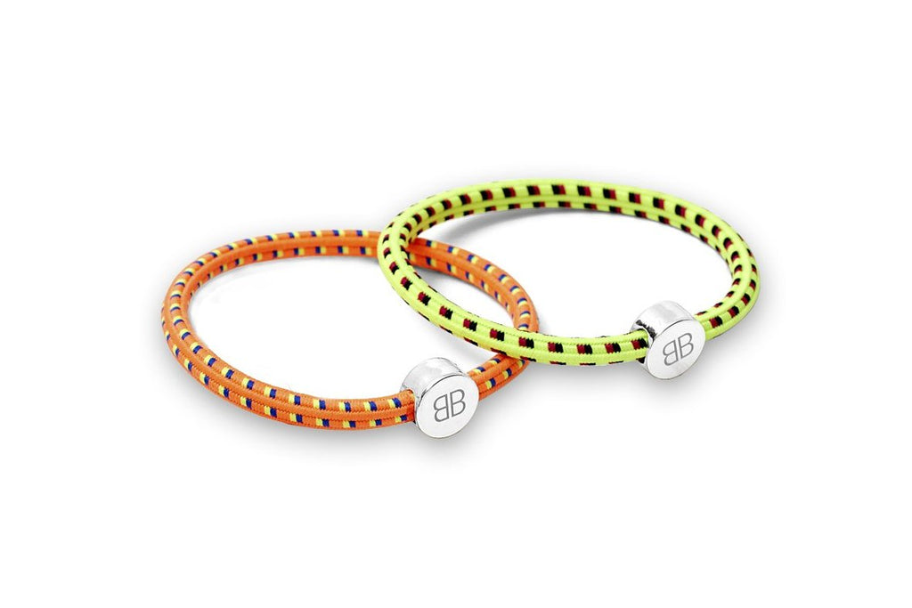 Orange and Yellow Hair Tie/Wristie Set