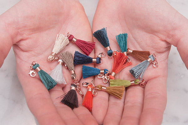 Individual Rose Gold Removable Mini Tassels - Boho Betty