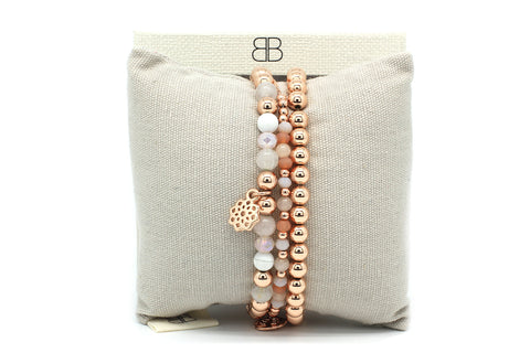 Forillon 3 Layered Rose Gold Stack