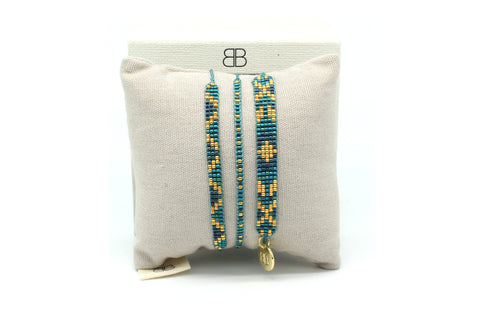 Aloha 3 Layered Teal Bracelet Stack