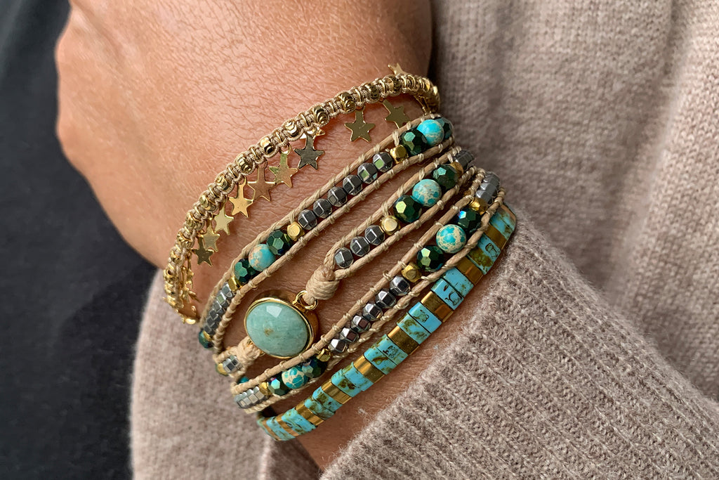 Santa Monica 3 Layered Bracelet Stack