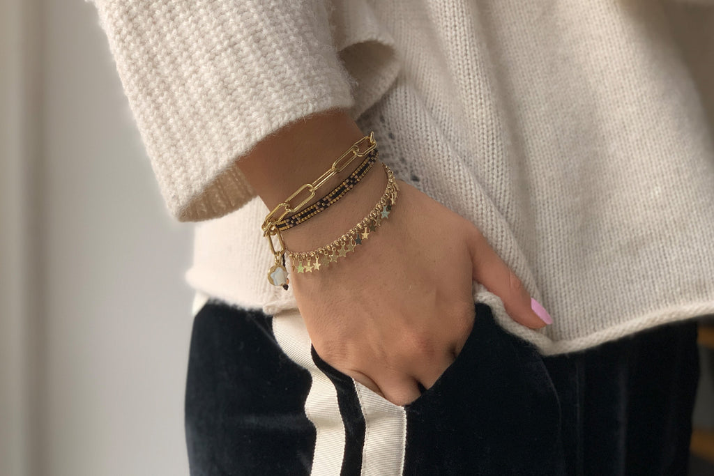 Istanbul 3 Layered Bracelet Stack - Boho Betty