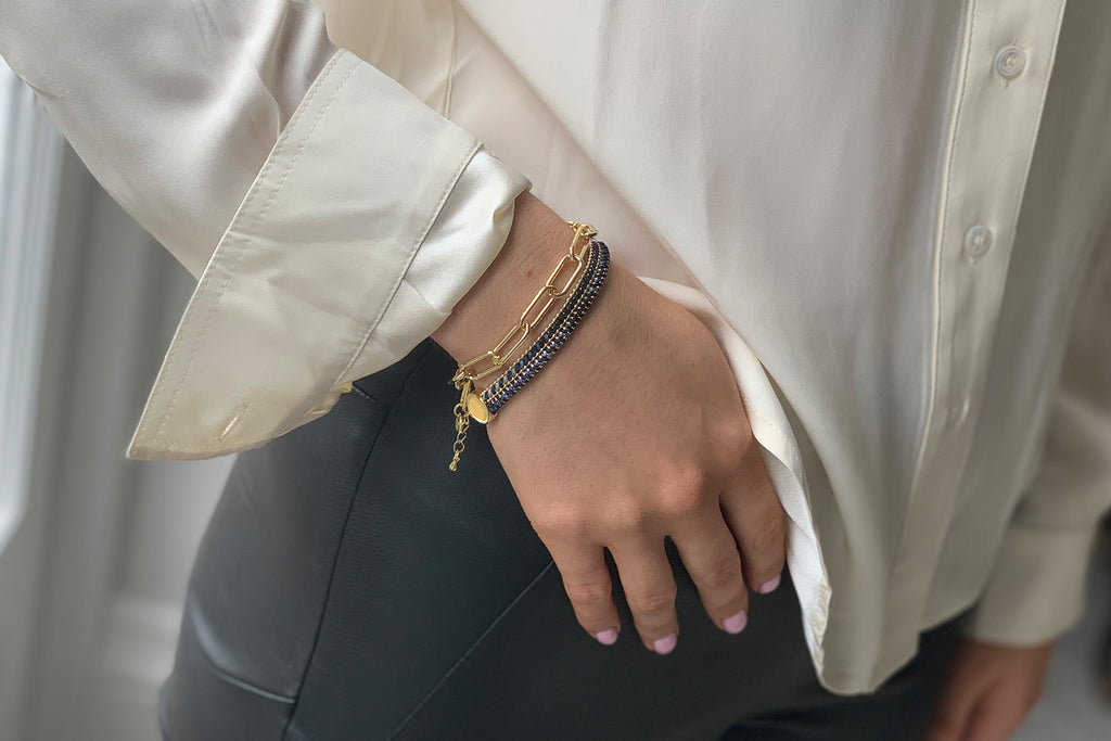 Phuket Gold 2 Layered Bracelet Stack - Boho Betty