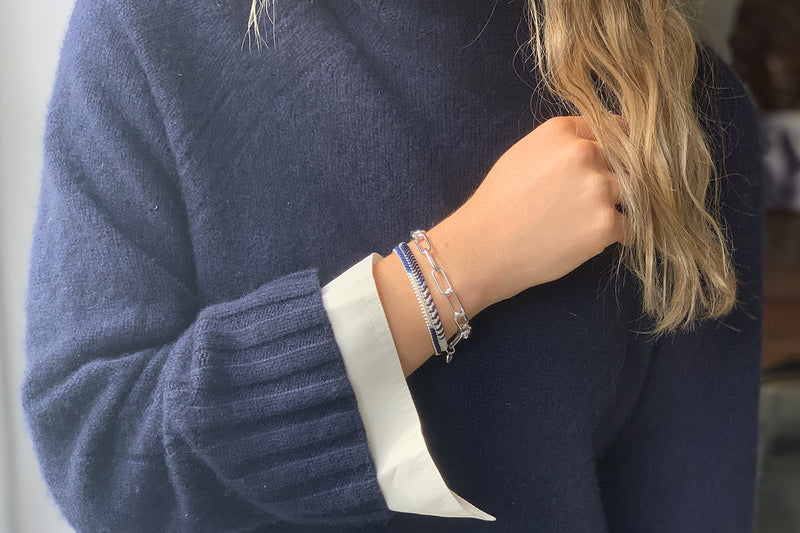 Phuket Silver 2 Layered Bracelet Stack - Boho Betty