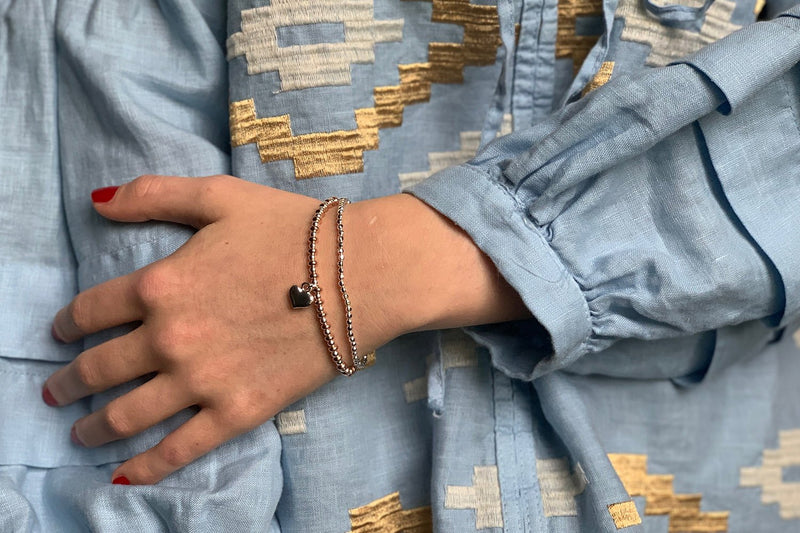 Sweetheart 2 Layered Bracelet Stack - Boho Betty