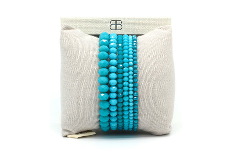 Shallon 6 Layered Blue Bracelet Stack