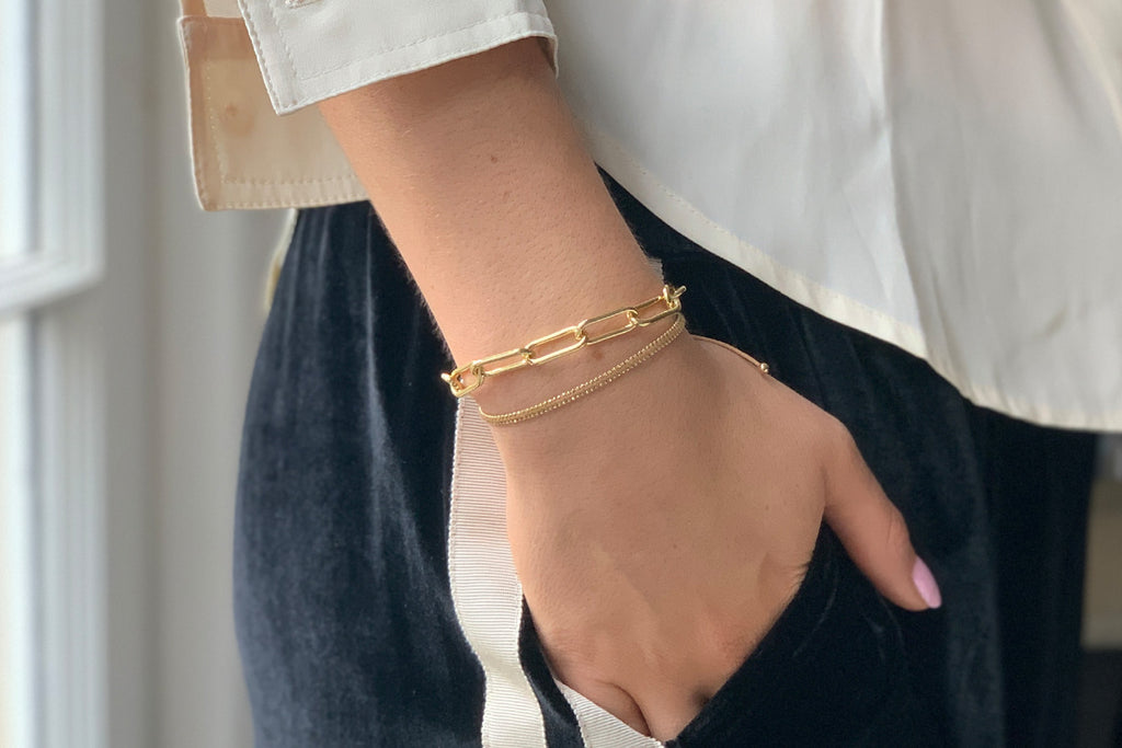 Warsaw Gold 2 Layered Bracelet Stack - Boho Betty
