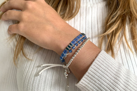 Monoceros 3 Layered Blue Bracelet Stack