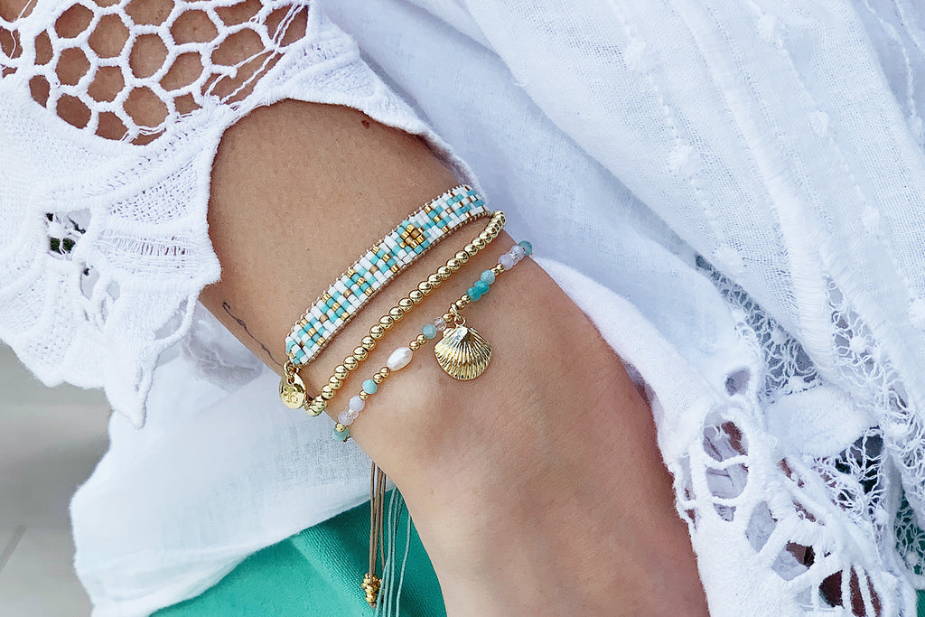 Kiev 3 Gold Layered Bracelet Stack - Boho Betty
