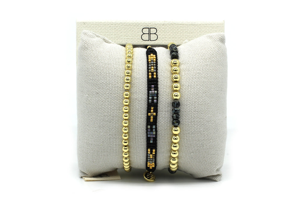Barcelona 3 Layered Bracelet Stack - Boho Betty