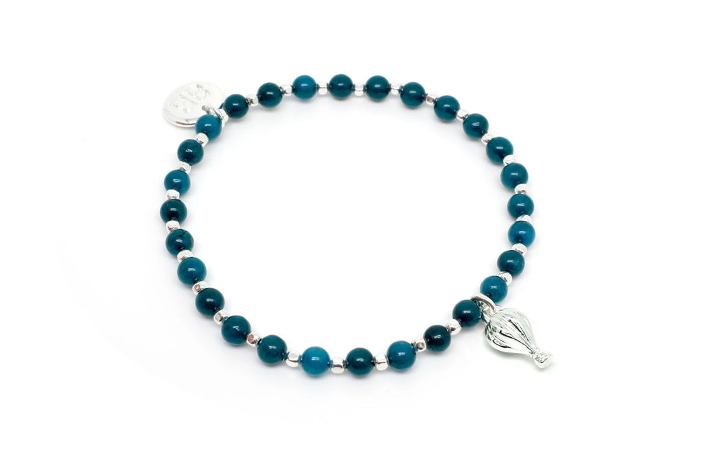 Piccolo II Teal Stretch Bracelet - Boho Betty