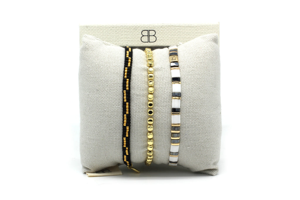 Copenhagen 3 Layered Bracelet Stack - Boho Betty