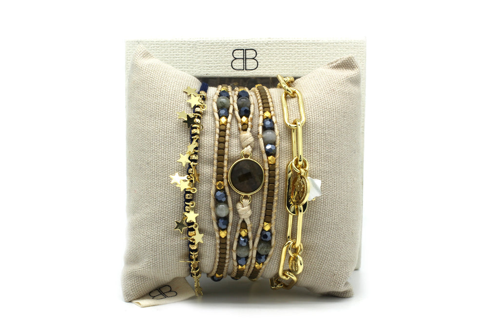 Key West II 3 Layered Bracelet Stack - Boho Betty