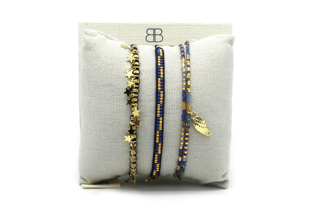 Medina 3 Layered Bracelet Stack - Boho Betty